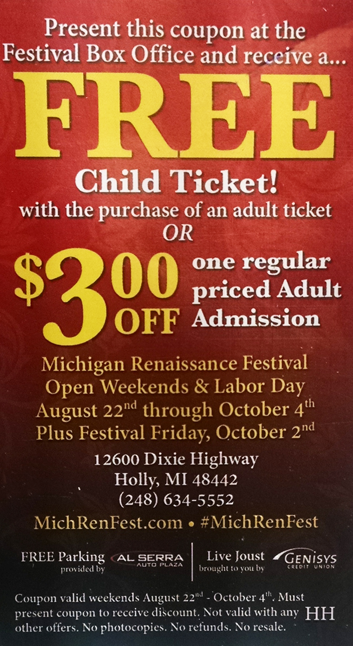 Discount coupons for sterling renaissance festival