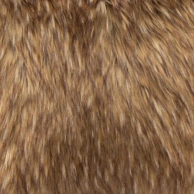 Wolverine Faux Fur Toss Pillow in Light Brown