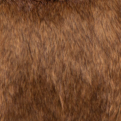 Lion's Mane Faux Fur Toss Pillow in Dark Brown