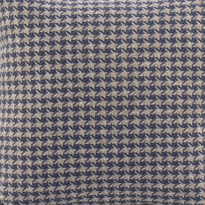 Blue & Grey Houndstooth Toss Pillow