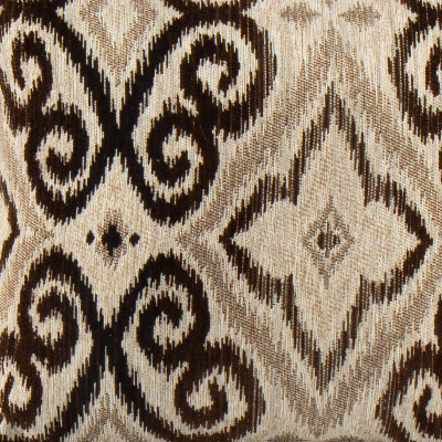 Ikat Toss Pillow in Brown