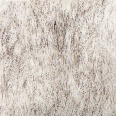 Polar Bear Faux Fur Toss Pillow in White