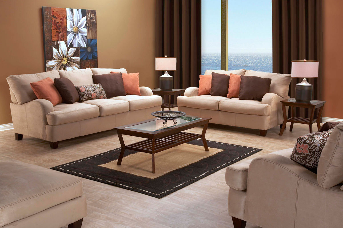 Chocolate Brown And Burnt Orange Living Room   Living Room Design