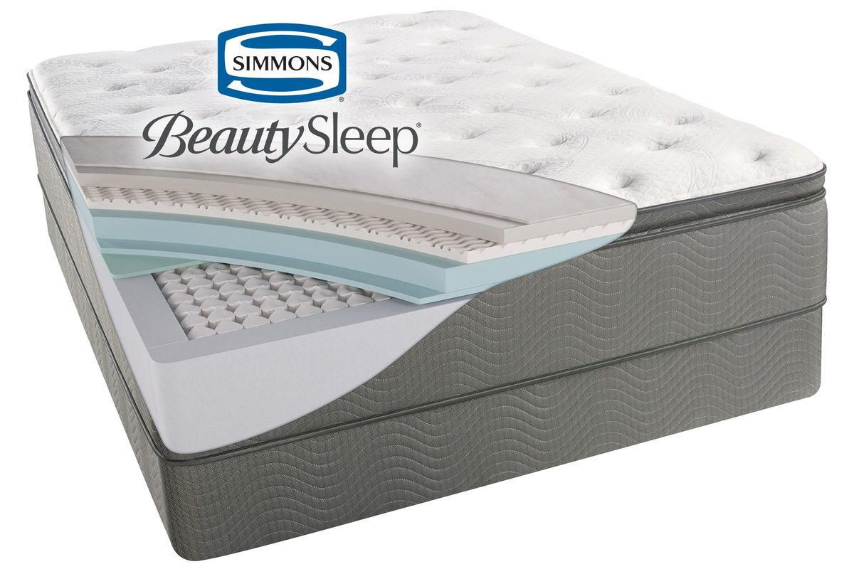 simmonsa beautysleepa sun valleya plush pillow top mattresses collection