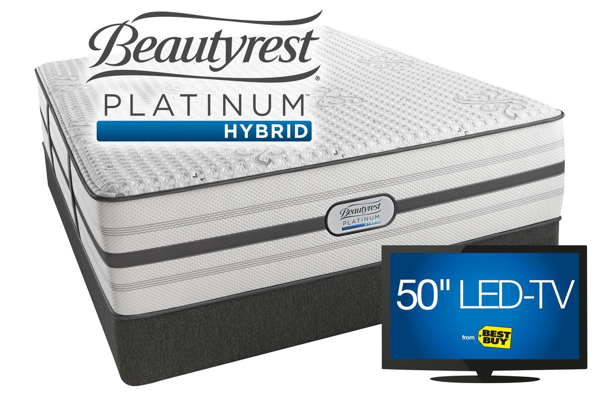 beautyrest platinum hybrid bryson queen size we pay your tax