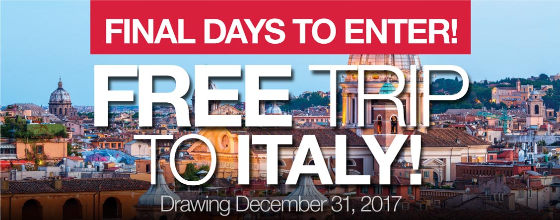 Free Trip to Italy