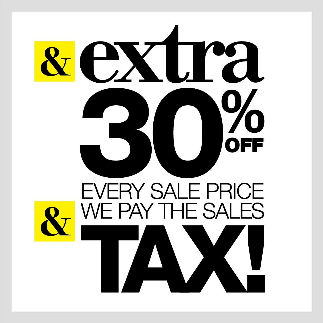 Extra 30% U0026 We Pay Your Tax