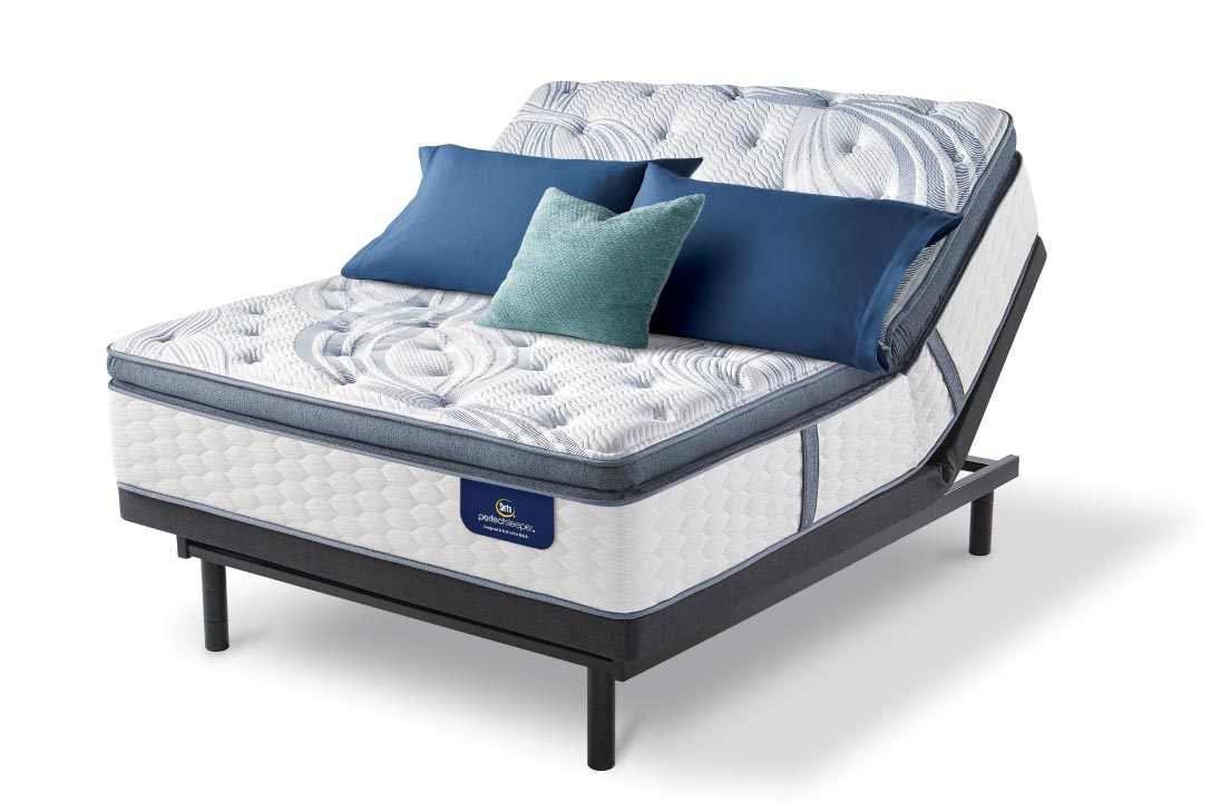 Serta Perfect Sleeper mattress on head-up adjustable base