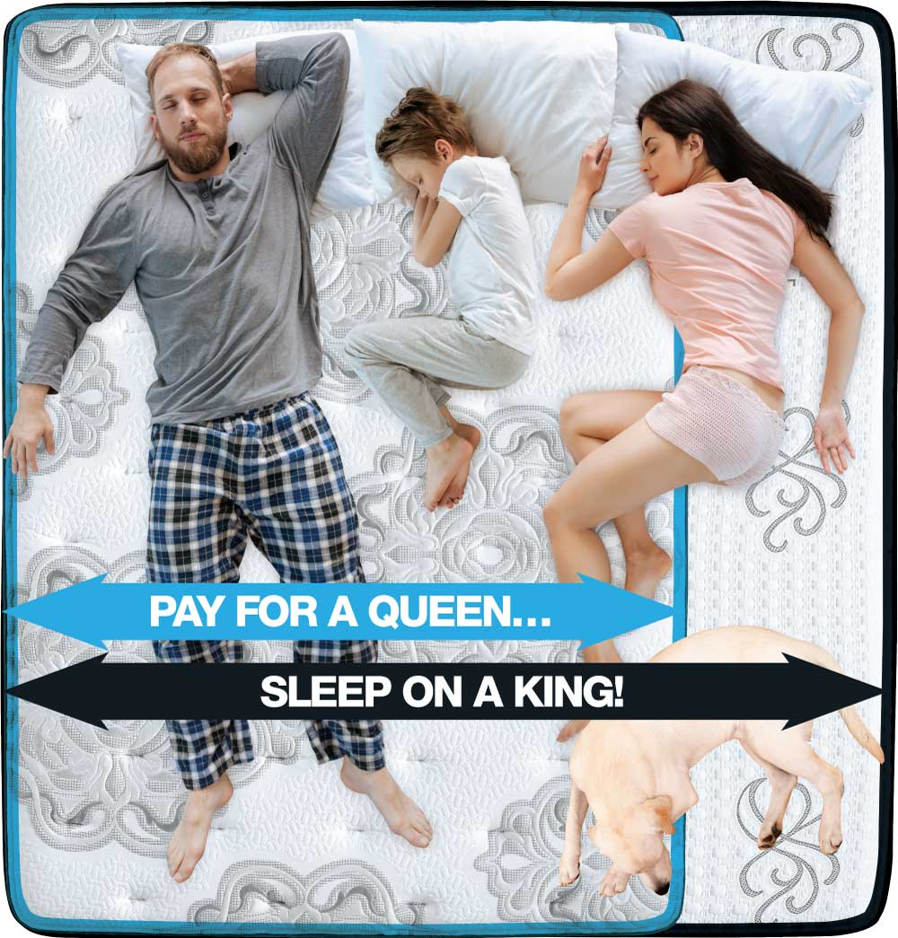 Pay for a Queen... Sleep on a King!