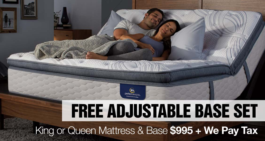 Free Adjustable Base Set King or Queen Mattress & Base $995 + We Pay Tax