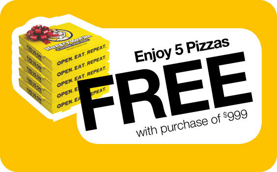Free Hungry Howies Pizzas