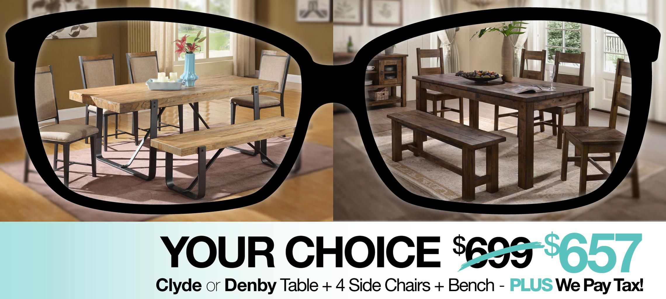 Your Choice - Clyde or Denby Dining Sets