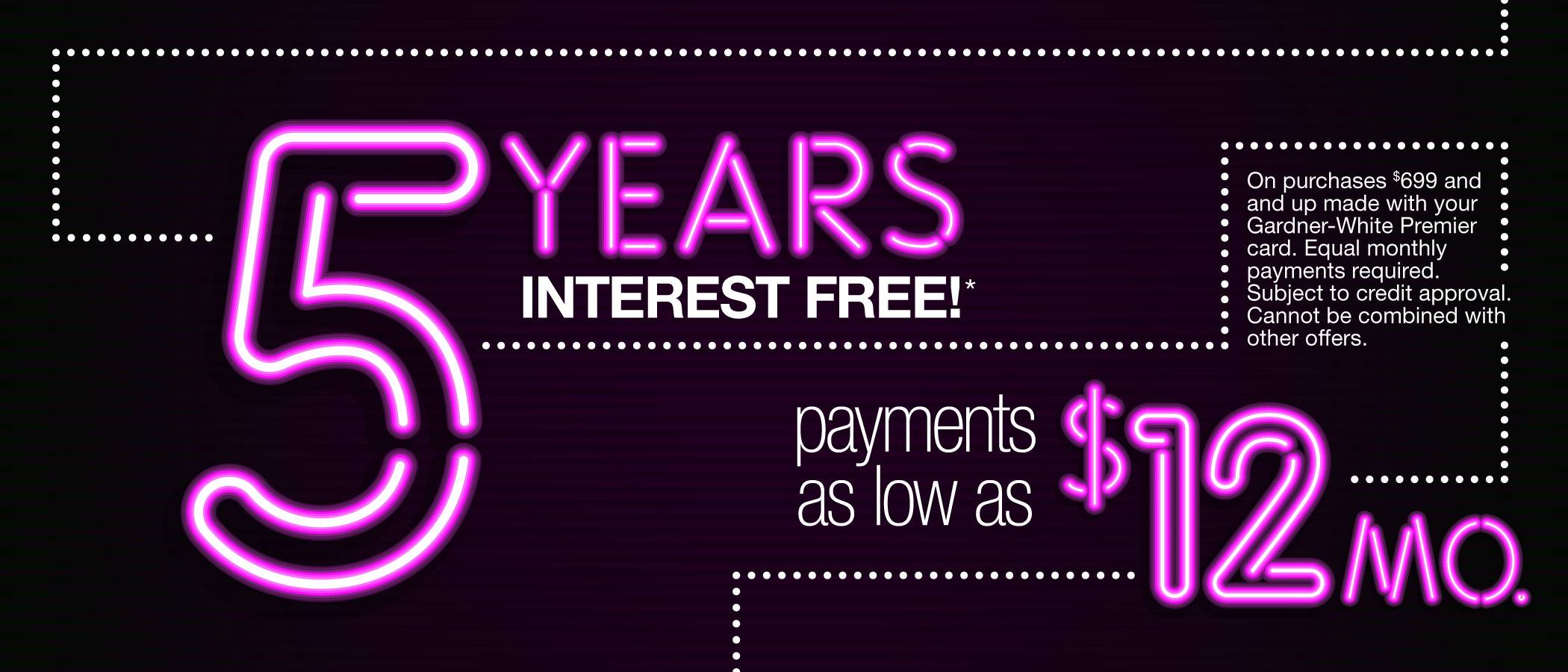 5 Years Interest-Free: Apply Now