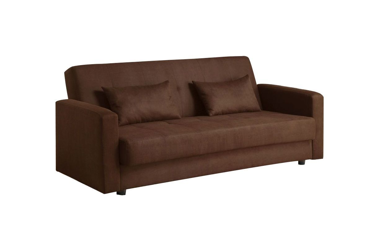 Marly Microfiber Futon Sofa With Built In Underseat Storage From Gardner White Furniture