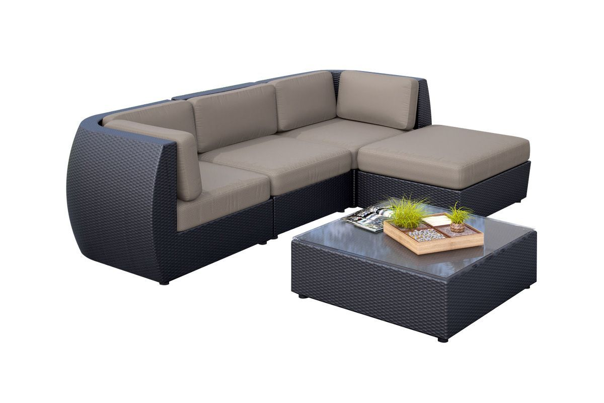 Seattle 5-Piece Sofa with Chaise Patio Set at Gardner-White