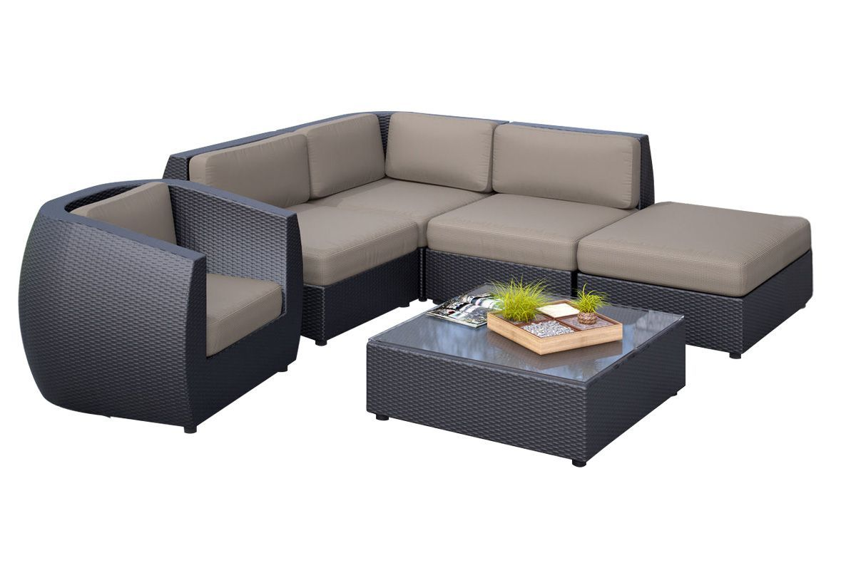 Seattle 6-Piece Sectional Patio Set