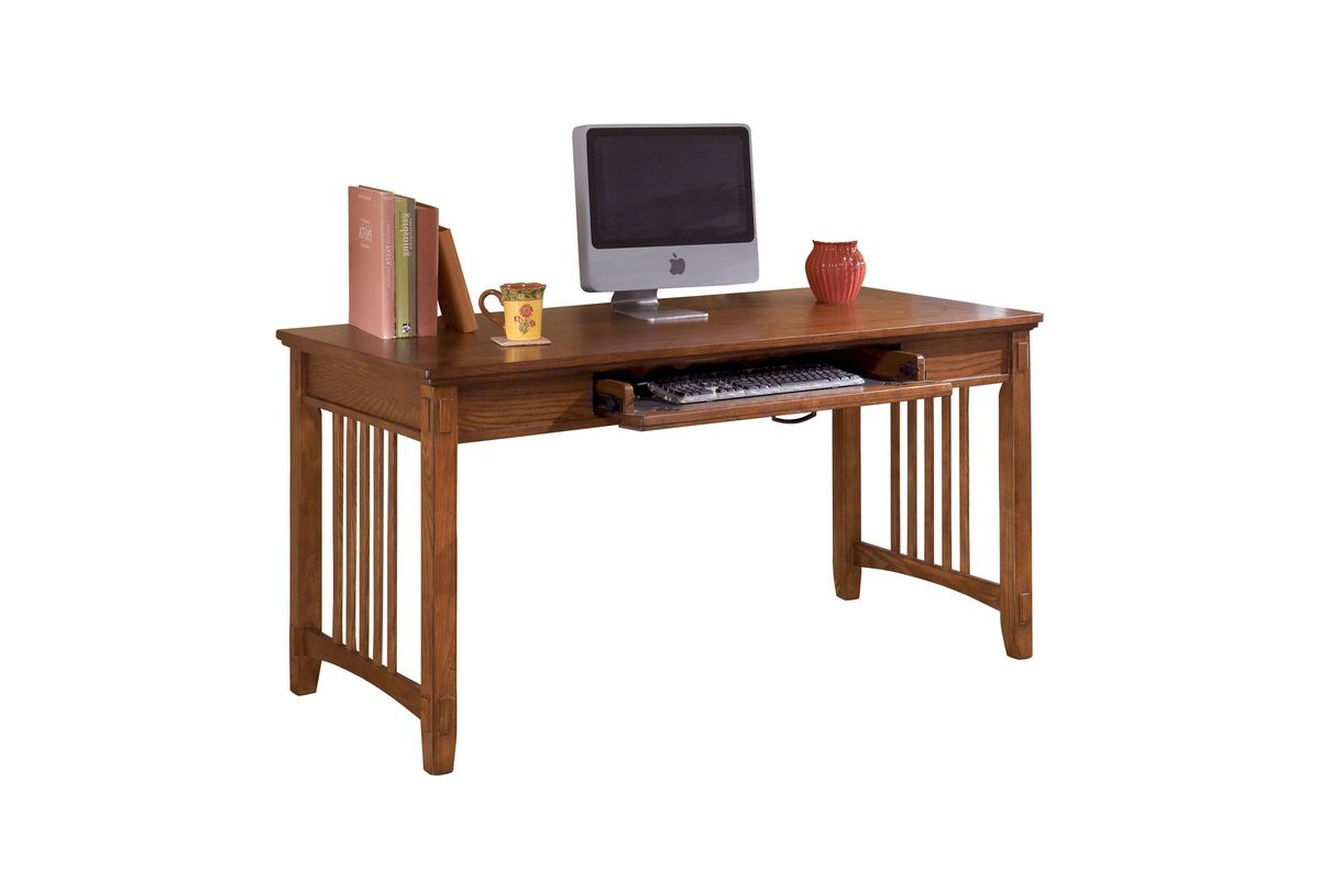 Cross Island Home Office Large Leg Desk In Medium Brown By Ashley