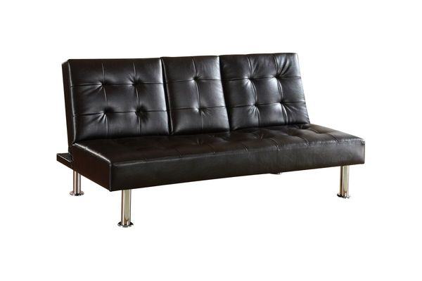 Amora Leatherette Futon With Pull Down Center Table