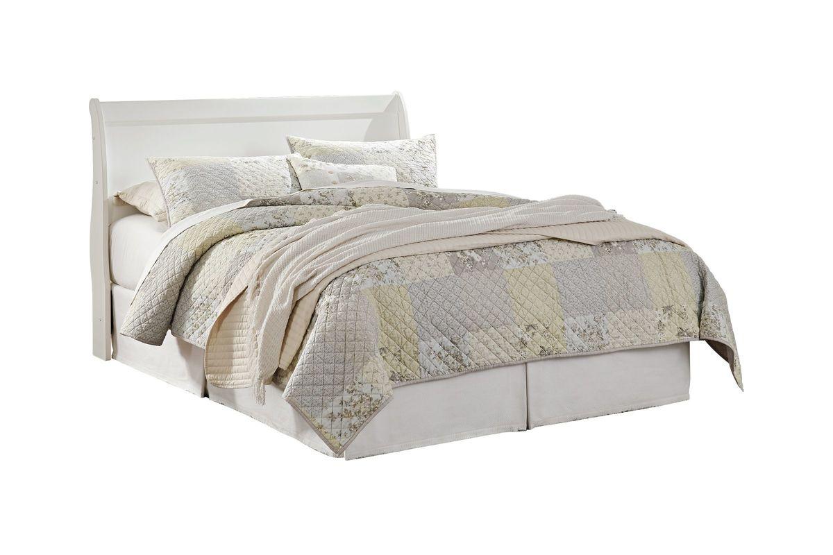 Anarasia Queen Sleigh Headboard in White by Ashley from Gardner-White Furniture