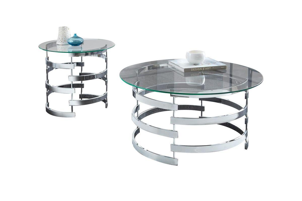 Glass Amp Chrome End Table At Gardner White