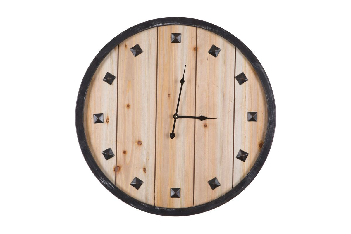 Wooden Rustic Wall Clock From Gardner White Furniture