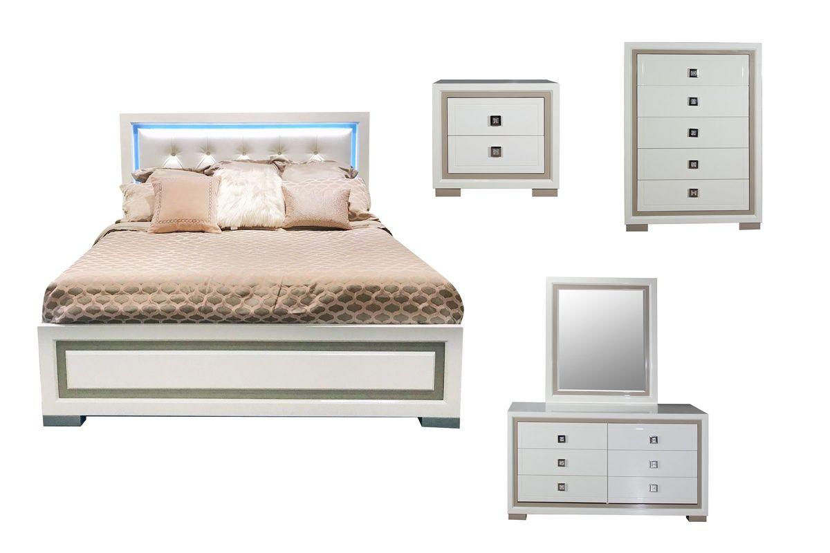 white king bedroom sets. Allure 5-Piece King Bedroom Set With 32\ White Sets