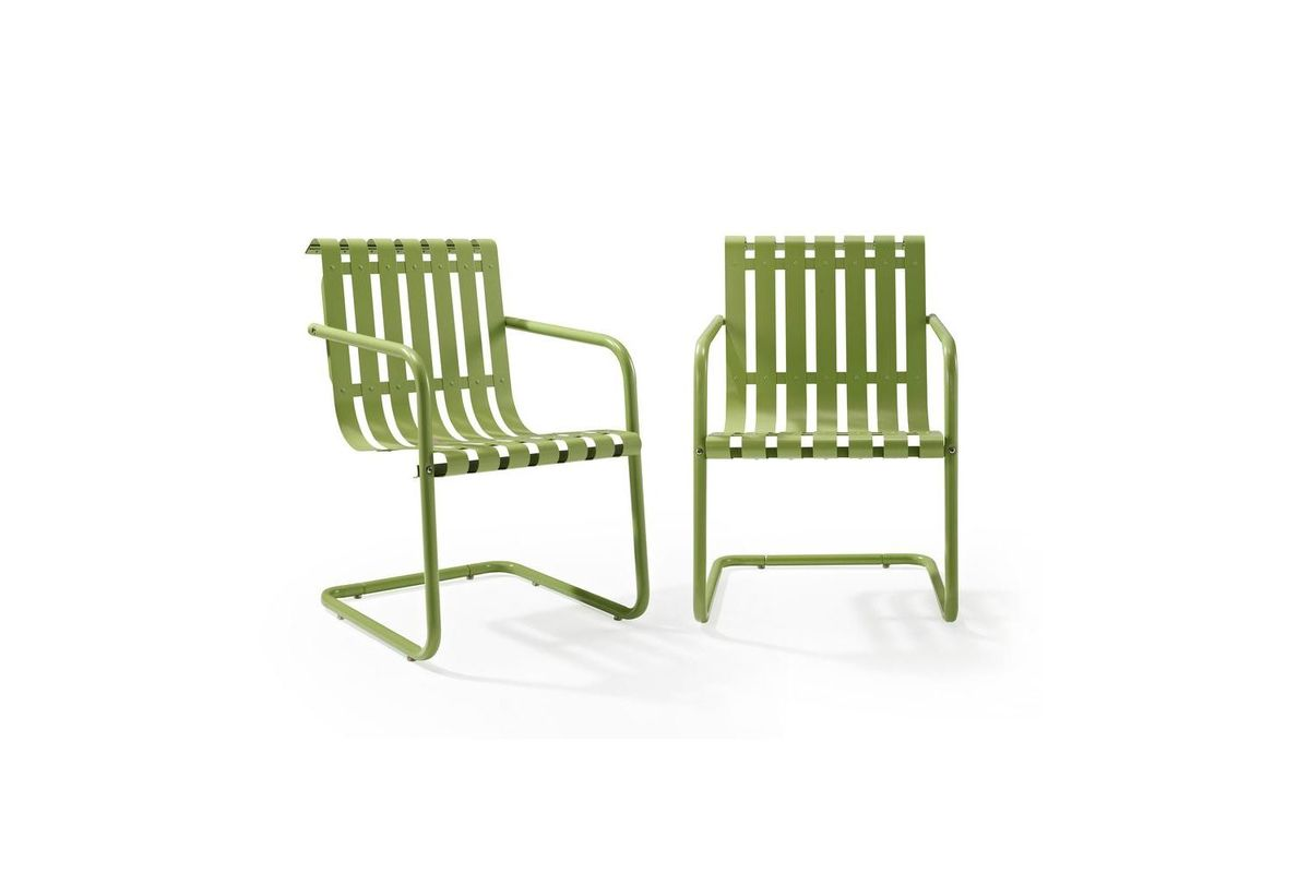 Gracie Set Of 2 Stainless Steel Chairs In Green By Crosley From  Gardner White Furniture
