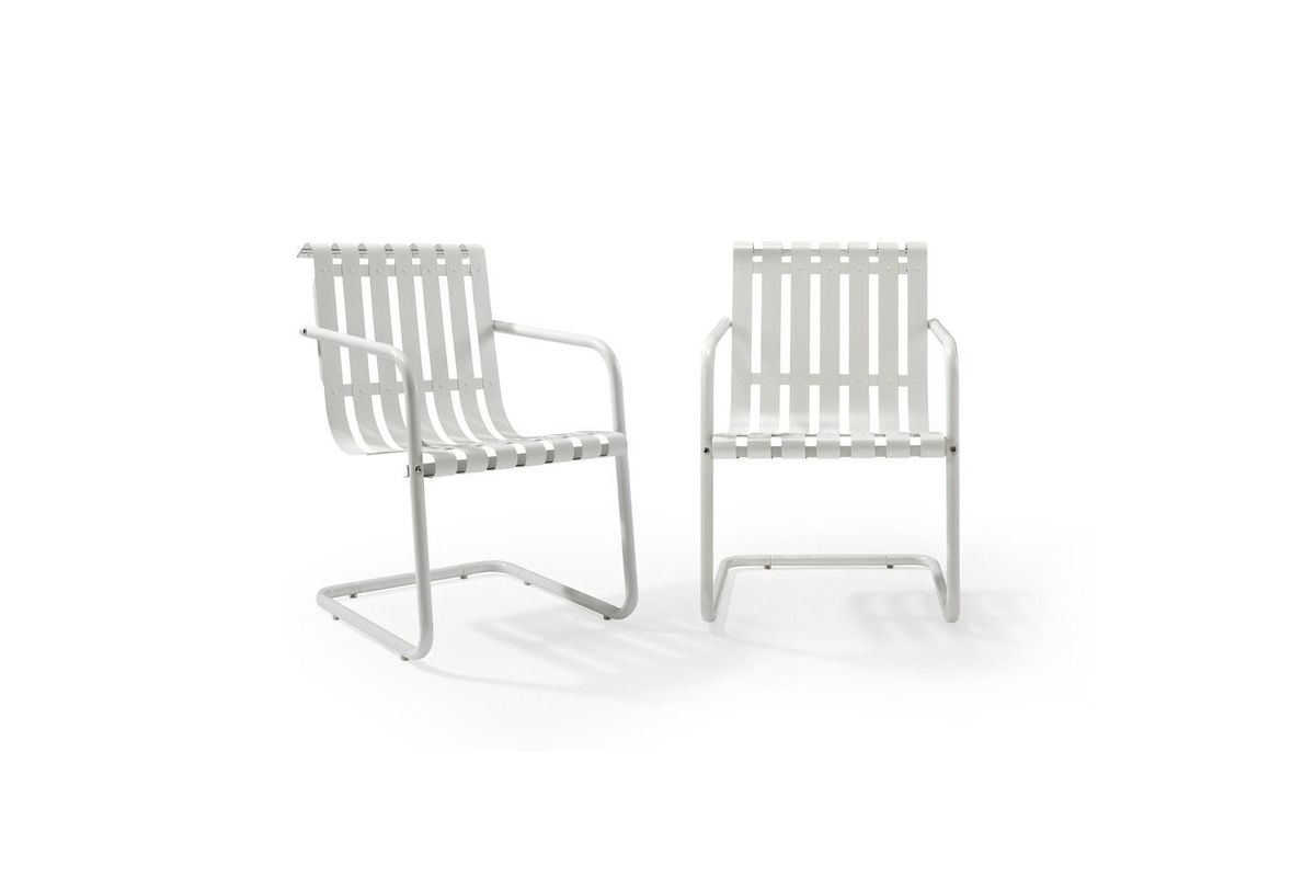 Exceptionnel Gracie Set Of 2 Stainless Steel Chairs In White By Crosley From  Gardner White Furniture
