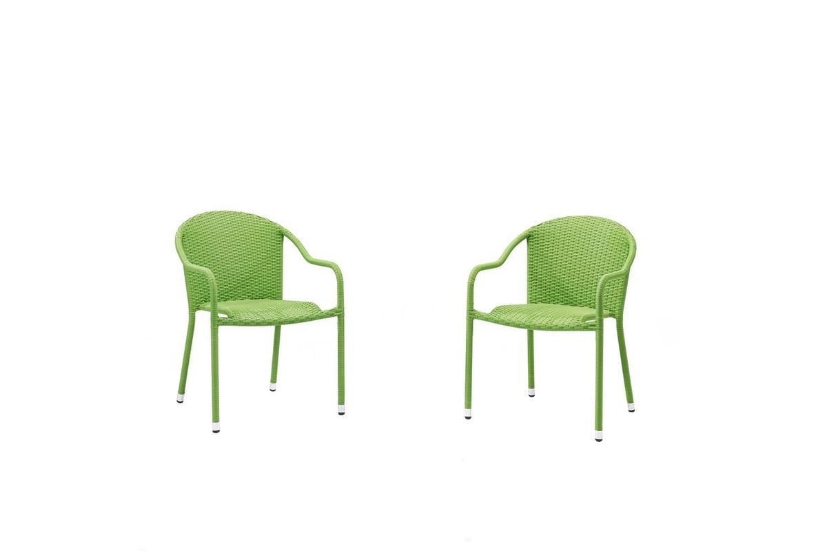 Super Palm Harbor Outdoor Stackable Chairs Set Of 2 In Green By Crosley Creativecarmelina Interior Chair Design Creativecarmelinacom