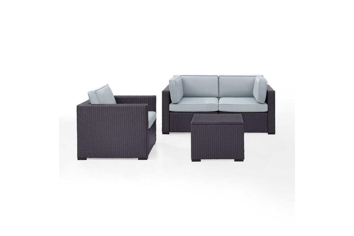 Biscayne Mist 3 Person Outdoor Seating Set by Crosley from Gardner-White Furniture