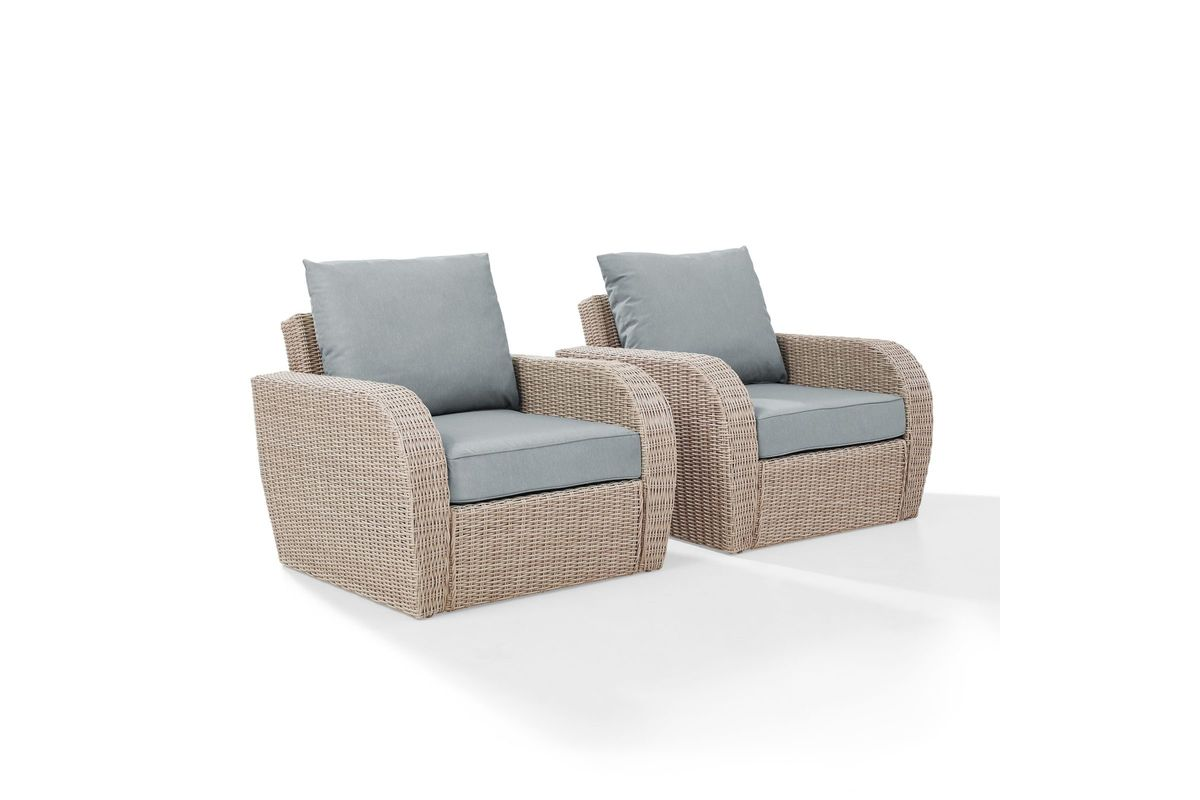 Awe Inspiring St Augustine Outdoor Chairs Set Of 2 With Mist Cushions By Crosley Short Links Chair Design For Home Short Linksinfo