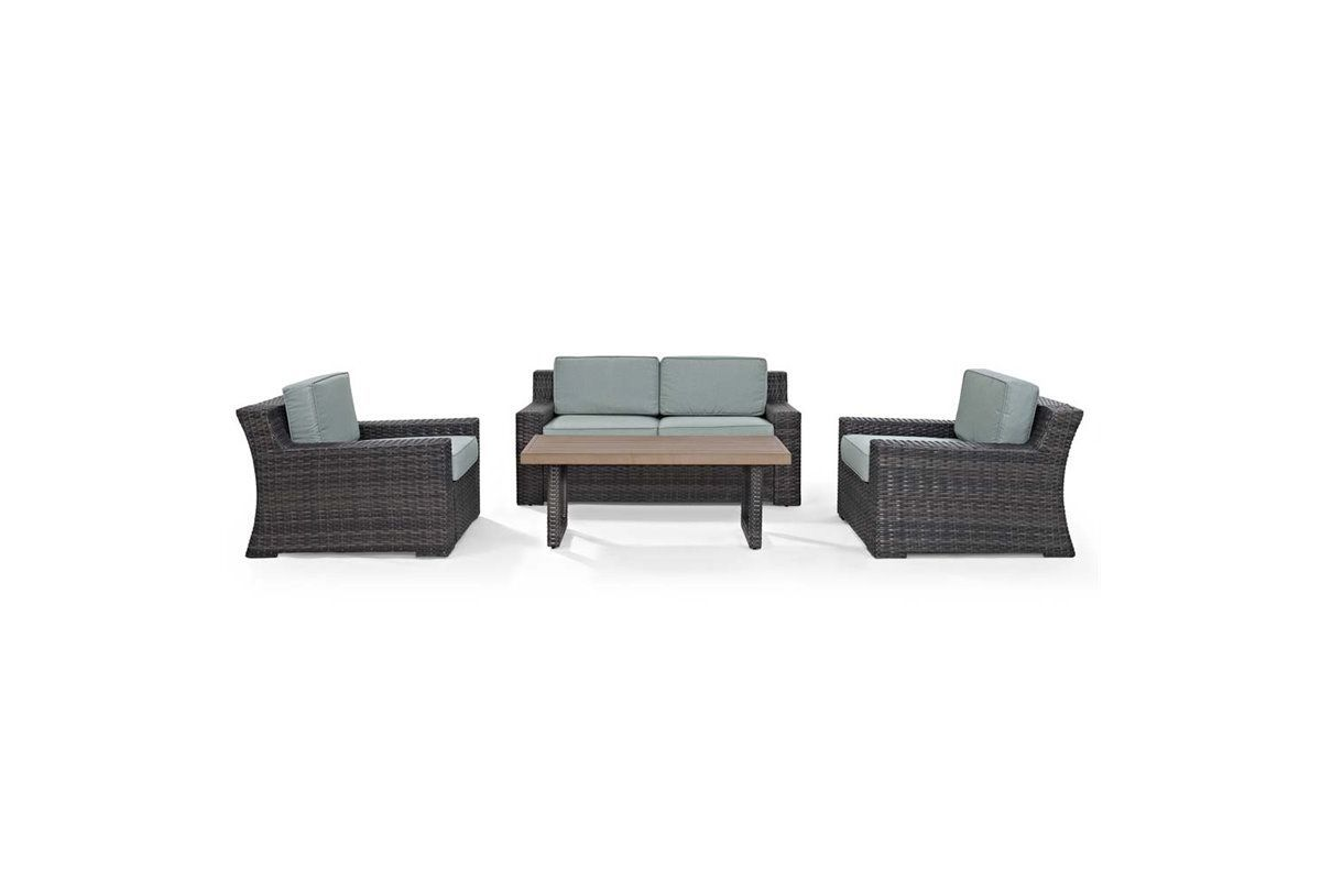 Beaufort 4 Piece Outdoor Seating Set by Crosley from Gardner-White Furniture