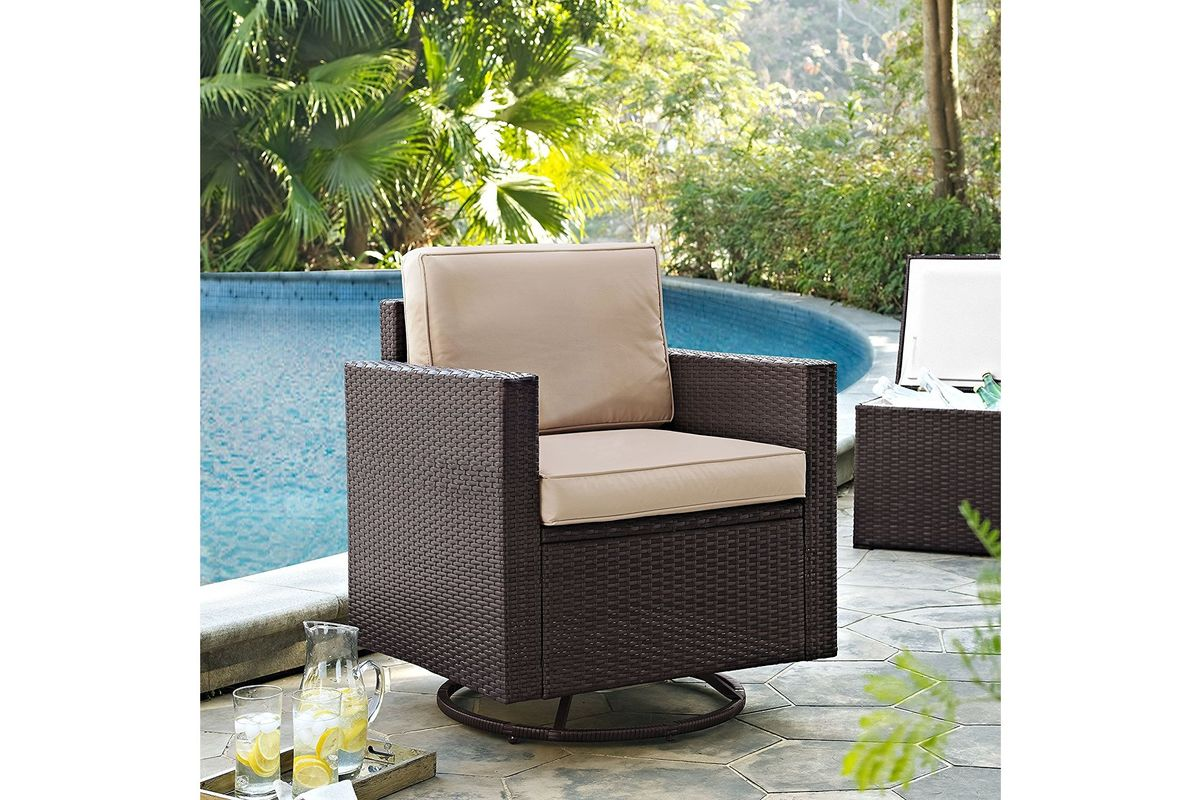 Palm Harbor Sand Swivel Rocker Chair by Crosley from Gardner-White Furniture