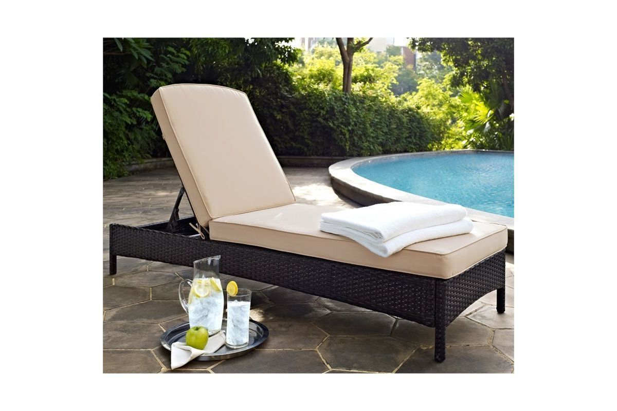 Palm Harbor Sand Chaise Lounge by Crosley from Gardner-White Furniture