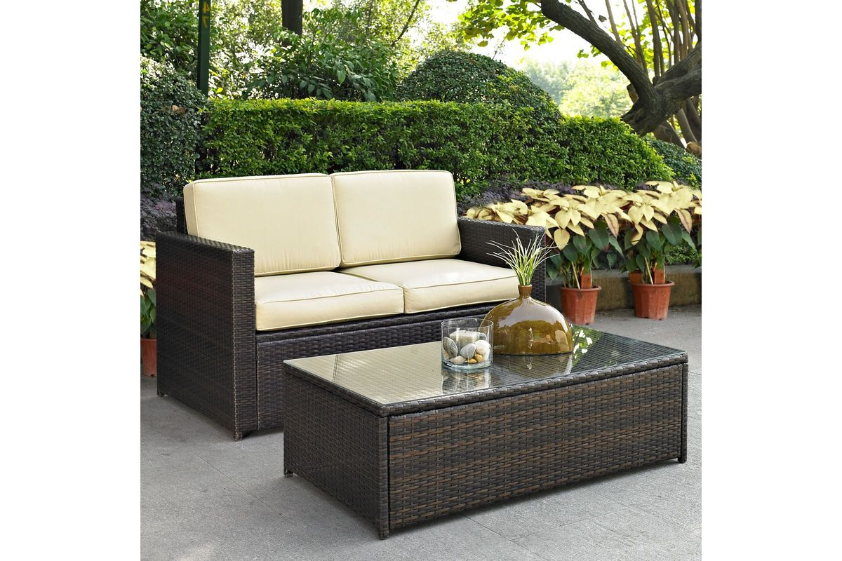 Palm Harbor Sand 2 Piece Outdoor Seating Set by Crosley from Gardner-White Furniture