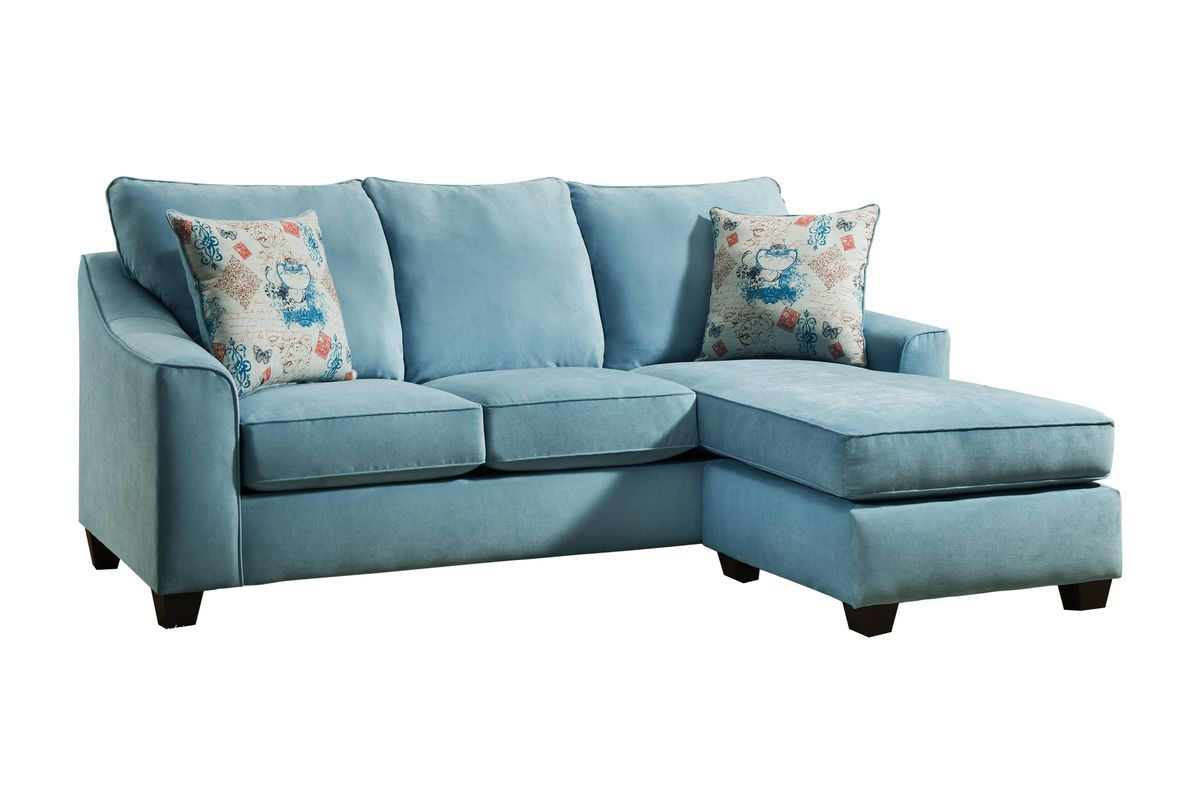 Elizabeth Sofa In Spa Teal With Moveable Chaise At Gardner White