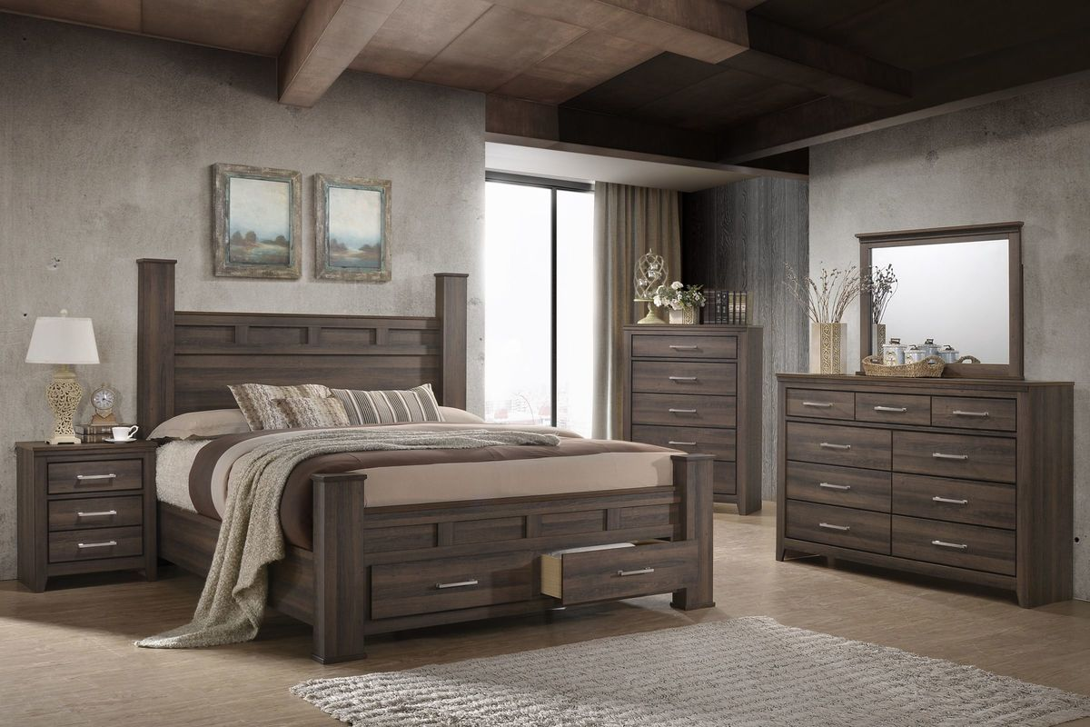 "Danville 5-Piece Queen Bedroom Set With 32"" LED-TV At"
