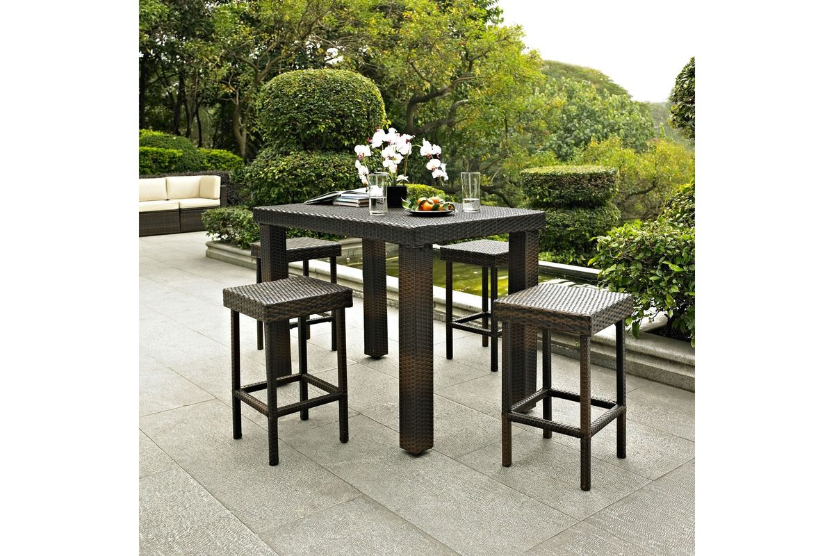 palm harbor outdoor high dining table by crosley at gardner