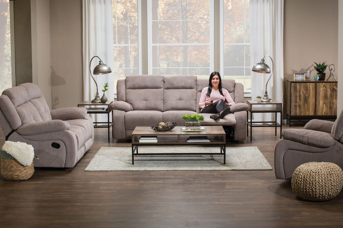 captivating leather living room furniture sets | Lenox Reclining Sofa + Reclining Loveseat at Gardner-White
