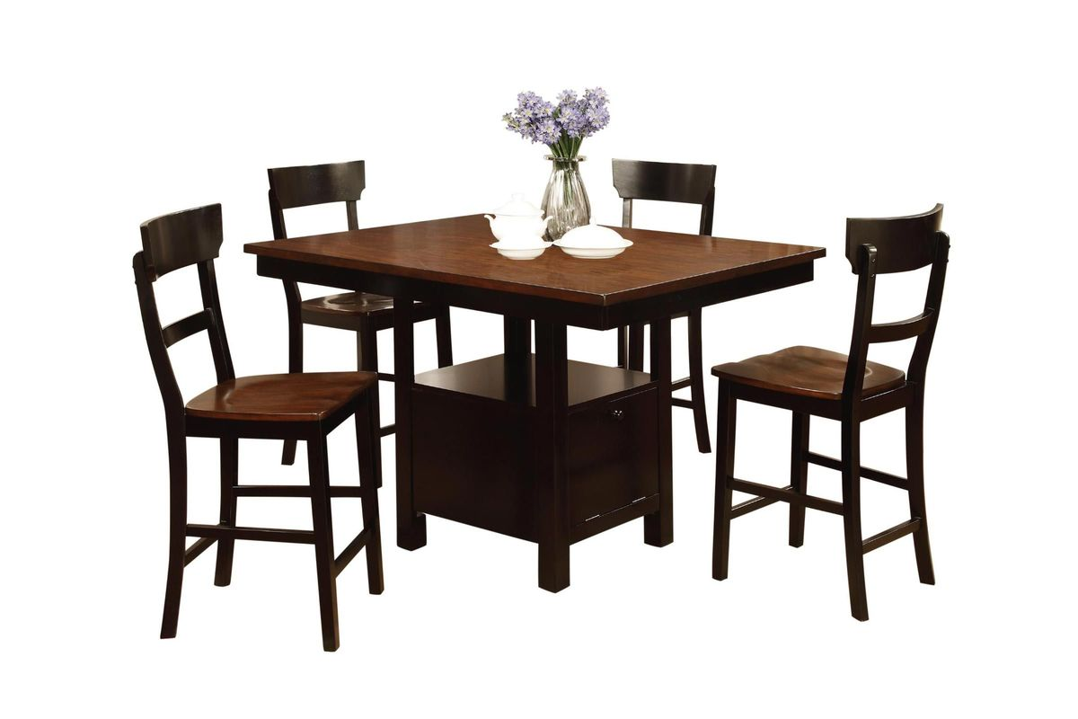 Rowley Pub Table + 4 Stools from Gardner-White Furniture