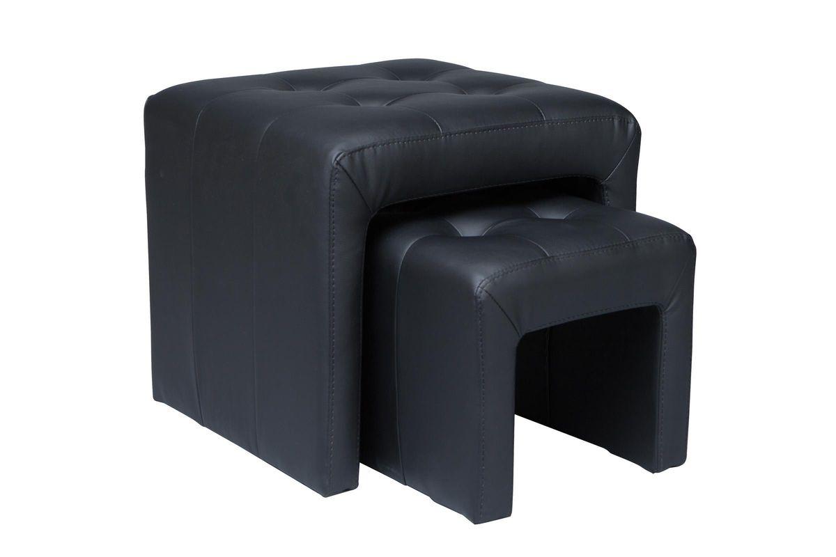 Marvelous Black Nesting Ottomans Lamtechconsult Wood Chair Design Ideas Lamtechconsultcom
