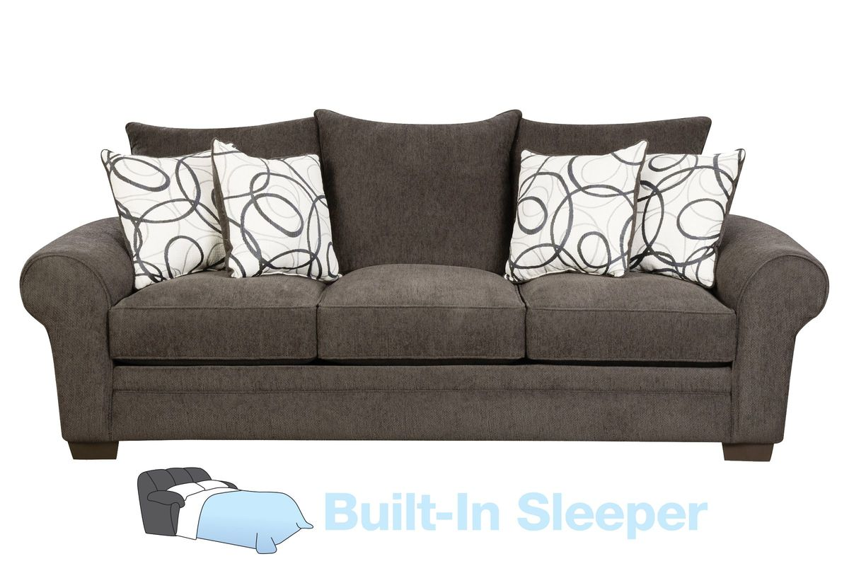 Othello Chenille Sofa With Built In Sleeper From Gardner White Furniture