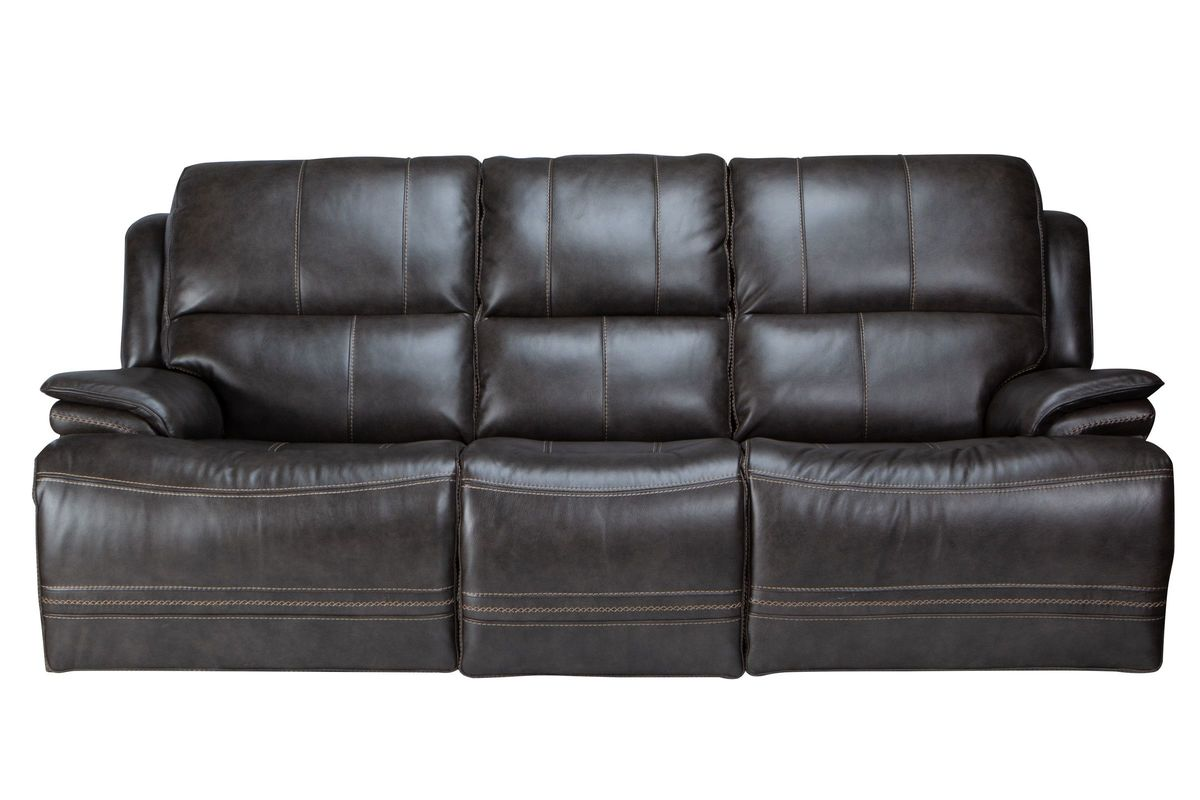 Clearance Juno Leather Power Reclining Sofa in the Auburn ...
