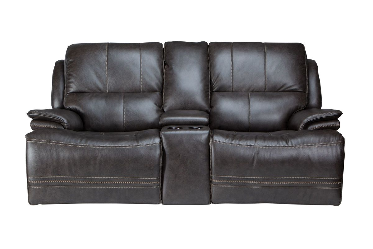 Miraculous Juno Power Reclining Leather Loveseat With Console Pdpeps Interior Chair Design Pdpepsorg