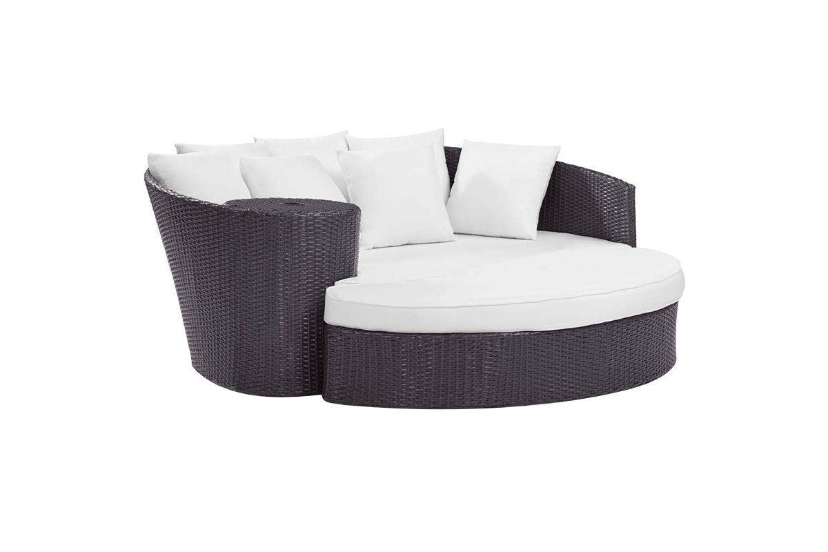 Biscayne Daybed with White Cushions by Crosley from Gardner-White Furniture