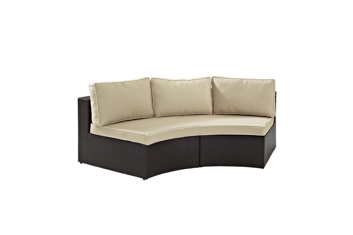 Catalina Curved Sectional Sofa By Crosley At Gardner White