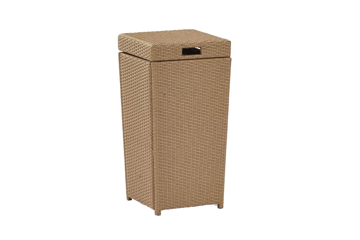 Palm Harbor Outdoor Trash Bin in Beige by Crosley from Gardner-White Furniture