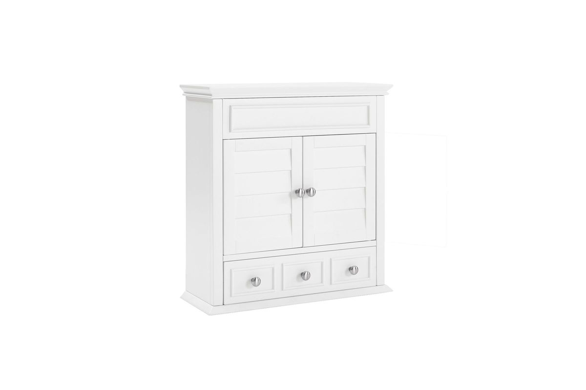 Lydia Wall Cabinet In White By Crosley At Gardner White