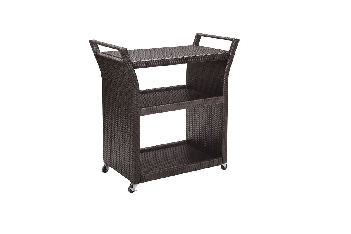 Palm Harbor Outdoor Bar Cart In Brown By Crosley From Gardner White Furniture