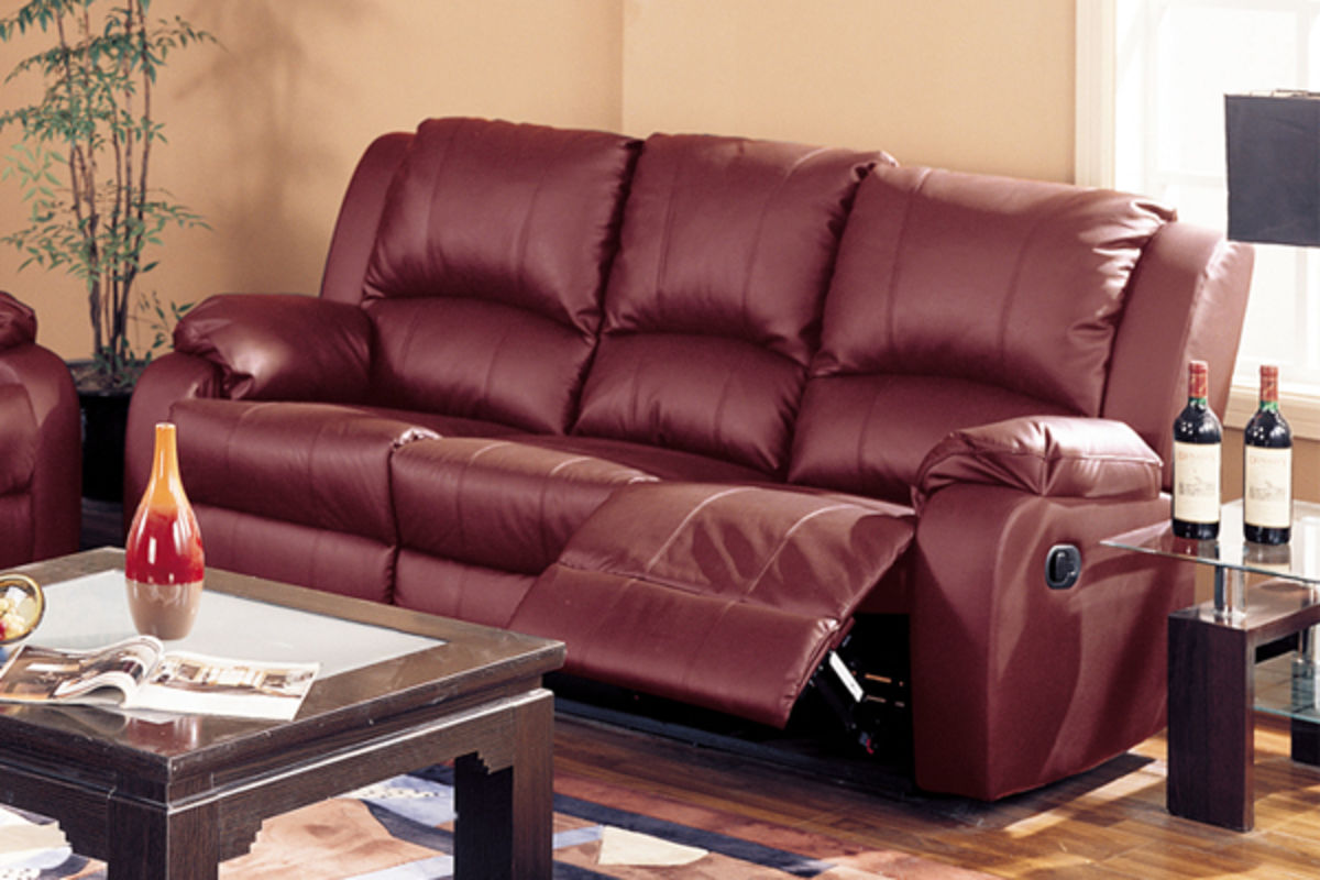 Abbott Burgundy Reclining Sofa, Loveseat & Chair at Gardner-White